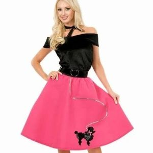 Charades 1950 Poodle Skirt Costume L